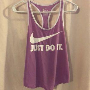 Athletic cut Nike workout tank